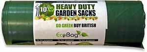 Eco Bag Garden Bin Bags Sacks 80 Litre Strong Heavy Duty 100% Recycled