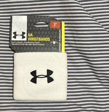 Under Armour UA Performance Unisex Wristbands Sweatbands All Sport 2-Pack White