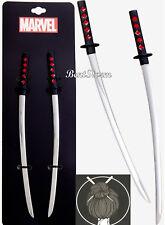 Marvel Deadpool Katana Blades Style Metal Sword Hair Bun Sticks Pins Licensed