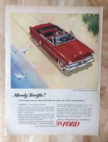 Original Magazine  Print Ad 1953 FORD Convertible New Standard American Road