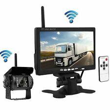 Rückfahrsystem Funk Rückfahrkamera +7 zoll LCD Funk Monitor 12V 24V LKW KFW DHL