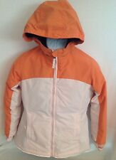 LANDS' END Kids Pale Pink Orange Squall Winter Jacket Girl's M 10-12 Grow-A-Long