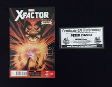 X-Factor #255 Signed By Peter David W/ COA From Midtown Comics. NM!!!