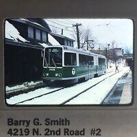 Vintage Boston MBTA Kodachrome Slide 1977 35mm Slide At Station Newton Highlands