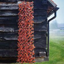 Red Acer Leaf Artificial Trellis - 180x90cm