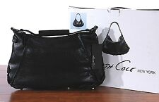 NWT Kenneth Cole Bolt It Out Hobo Leather Black Hand Bag HK61580MT NEW Purse