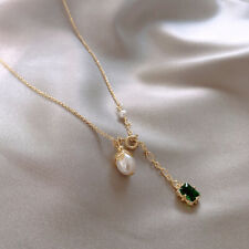 Pearl Pendant Necklace Choker Ins French
