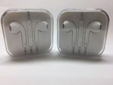 2Pack OEM Earbuds Earphones Headphones Mic Remote For Apple iPhone 5 6 Plus