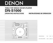 Denon DN-S1000 CD Player Owners Instruction Manual