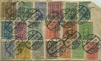 1922 Austria Multiple Stamp W Cancellations (front and back) Envelope MI 250/287