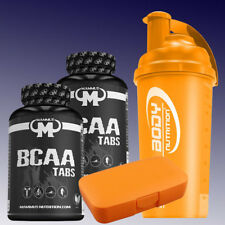 80,79€/kg) Mammut BCAA Tabs  2 x 180 Tabletten + Shaker und Pillenbox in Orange