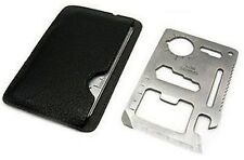 USA SELLER 11in1 Multi Tool Stainless Steel Credit Card Size Emergency survival