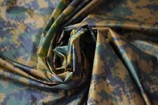 "1.1 OZ Ripstop Military Nylon Fabric Woodlands Marpat USMC Breathable 68""W DWR"