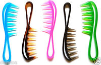 Shark Tooth Jumbo Wide Tooth Hair Extension Comb Detangler Hair Comb NEW COLOURS