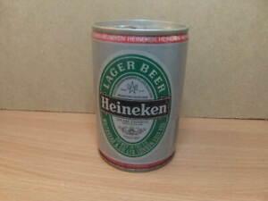Heineken – empty beer Can with intact ring-pull c1980