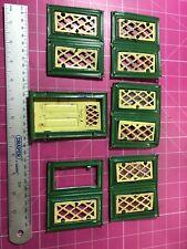 More details for vintage dollshouse windows and door
