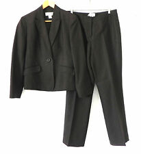 Jones New York Pants Suit Dark Brown Linen/Rayon Size 10P