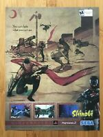 Shinobi PS2 Playstation 2 2002 Vintage Poster Ad Print Art Official Promo Rare