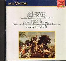 CD album: Claudio Monteverdi: Madrigale. Gustav Leonhardt. RCA Victor  . H