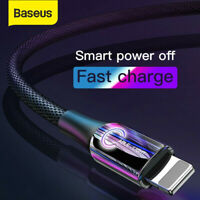 Baseus LED USB to Lightning Charger Cable 2.4A Fast Charging Lead for iPhone