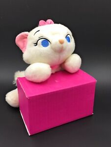 """DISNEY ARISTOCATS WHITE CAT KITTEN BEANIE SOFT TOY 11"""" STAMPED EASTER GIFT"""
