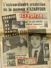 Ici paris n°979 - 1964 - Aznavour - Anne Marie de Danemark - Françoise Hardy