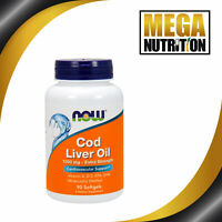 NOW Foods Cod Liver Oil 1000mg 90 Softgels | Fish Oil Heart Joint Health Omega 3