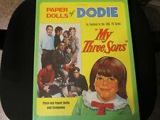 """Vintage """"Paper Dolls Of Dodie"""" """"My Three Sons"""" Saalfield Unused & Uncut 1971"""