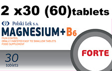 2 X 30 comprimidos 375mg magnesio +B6 Forte magnez B6 Forte 375mg Magne fuerte