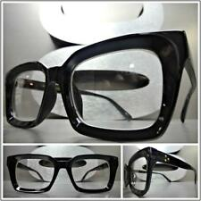 Mens Classic Vintage 50's Retro Style Clear Lens EYE GLASSES Black Optical Frame