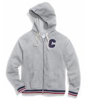 Champion Women's Plus Size Heritage Full Zip Hoodie Sweatshirt Oxford Gray
