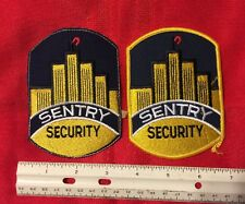 PATCH LOT 2 SENTRY SECURITY PATCHES ONE HAS NICE YELLOW BORDER OTHER STITCHED