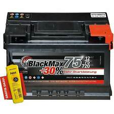 Autobatterie 12V 75Ah 720 A/EN BlackMax75 ersetzt 63 64 66 72 74 AH
