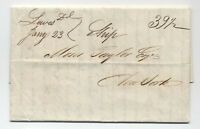 1836 Lewes DE incoming stampless ship letter from Matanzas [5246.537]