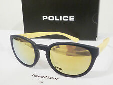 Police Hot 2 1937 Matte Black and Yellow occhiali sole Sunglasses New Original