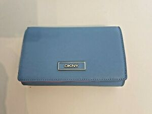 DKNY Damen Geldbörse  ; blau / pink ; Saffiano Leder neu