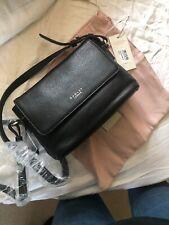64e87d0afd8 Radley Chatsworth Black Leather Shoulder Bag Small Cross Body Handbag RRP  £169