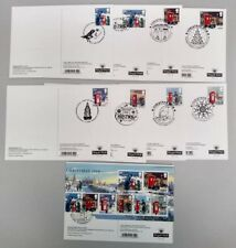 2018 Christmas Set of 9 PHQ Postcards 9 different pmk USED Back