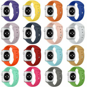 3 Pack For Apple Watch 6 5 4-1 iWatch SE 38/40/42/44mm Silicone Sport Band Strap