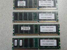 1GB SET -  256MB X 4 PC2100U DDR DESKTOP MEMORY - 4 PIECES @ 256MB EACH