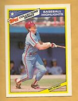 MIKE SCHMIDT 1987 Topps Collector Series Baseball Highlights #8 of 33 ~ Phillies