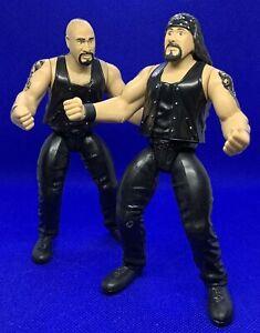 WWE WWF D.O.A.  Chainz & 8-Ball 2 Tuff 1 Action Figures Jakks Pacific (1996)
