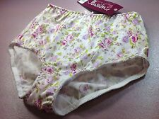 """Women Panties,Brief Bikinis""""Ilusion""""Size S.Silky Satin Floral W/front Protector"""