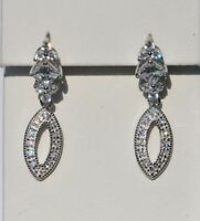 Echt 925 Sterling Silber Ohrringe Ohrstecker  Zirkonia crystal  Nr 310