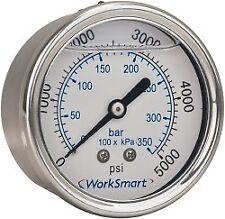 """WorkSmart 1-1/2"""" Dial, 1/8 NPT Thread, 0-30 Scale Range, Pressure Gauge Cente..."""
