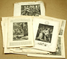 ''Death'' Lot of 23 Antique Engravings