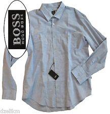 NWT Hugo Boss Black Label By Hugo Boss Slim Fit 2 pockets Cotton Linen Shirt XXL