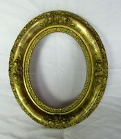 "ANTIQUE FIT 6.5"" X 8.5"" OVAL GOLD GILT ORNATE OVAL WOOD FRAME FINE ART VICTORIAN"