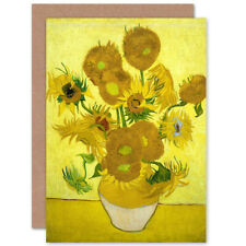 Vincent Van Gogh Sunflowers Fine Art Blank Greeting Card