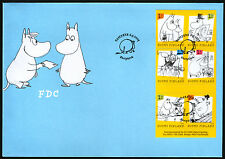 Finland FDC 2009 Moomin Cartoons Booklet Mint